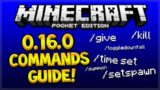 MCPE 0.16.0 COMMANDS TUTORIAL!! Minecraft Pocket Edition FULL Commands Guide (Pocket Edition)