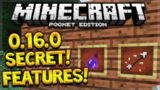 MCPE 0.16.0 SECRET FEATURES! Minecraft PE 0.16.0 Secret Features + Changes! (Pocket Edition)