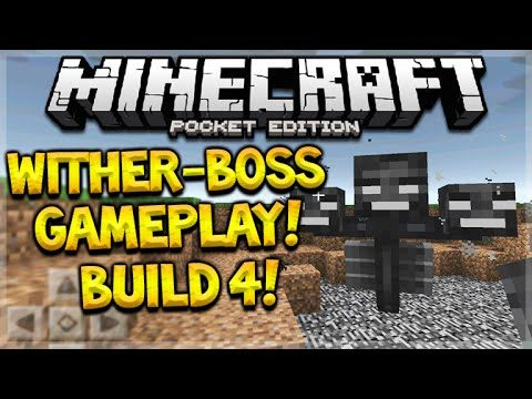 MCPE WITHER-BOSS GAMEPLAY! Minecraft PE 0.16.0 Build 4 Wither-Boss + Beacon (Pocket Edition)