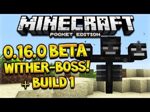 MCPE WITHER-BOSS RELEASE!! Minecraft Pocket Edition 0.16.0 Beta Wither Boss Coming (Pocket Edition)