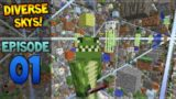 Minecraft Xbox – Diverse Sky's – The Open World Episode 1