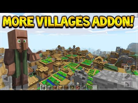 MORE VILLAGES ADDON!! Minecraft Pocket Edition Crazy Villages Addon (Pocket Edition)