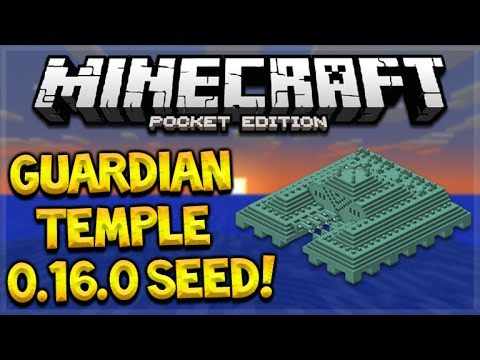 OCEAN MONUMENT AT SPAWN SEED!! Minecraft Pocket Edition 0.16.0 Guardian Temple Seed (MCPE)