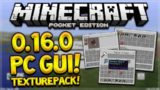 PC GUI 0.16.0 MCPE! Minecraft Pocket Edition PC GUI Layout In 0.16.0 UPDATE (Pocket Edition)