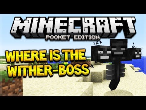 WHERE IS THE WITHER-BOSS Minecraft Pocket Edition 0.16.0 Wither-Boss & Beacon Update(Pocket Edition)