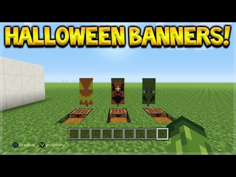 3 Awesome Custom Halloween Theme Banner Design Tutorial In Minecraft Console Edition