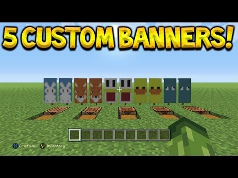 5 Awesome Custom Animal Banner Designs Tutorial In Minecraft Console Edition