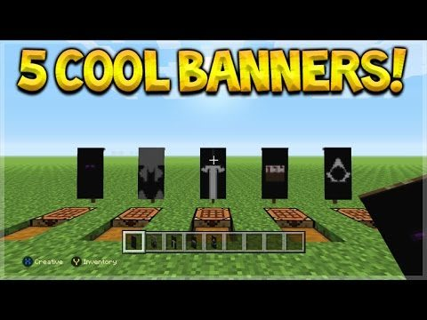 5 Awesome Custom Logo Banner Designs Tutorial In Minecraft Console Edition