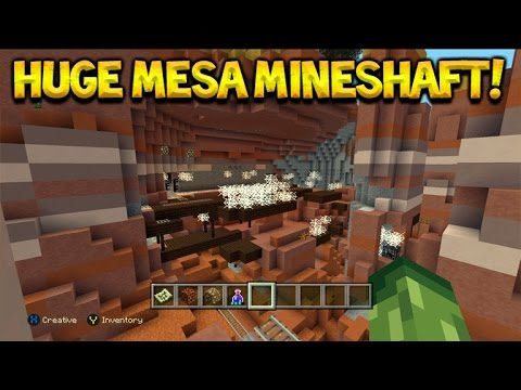 HUGE MESA MINESHAFT! Minecraft Console Edition – TU43 Amazing Seed With Igloo!
