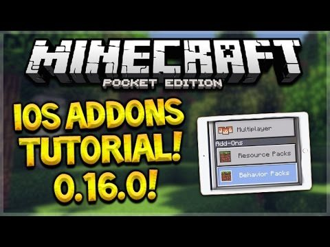 iOS 0.16.0 ADDONS! Minecraft Pocket Edition – How To Install Addons iOS Tutorial (Pocket Edition)