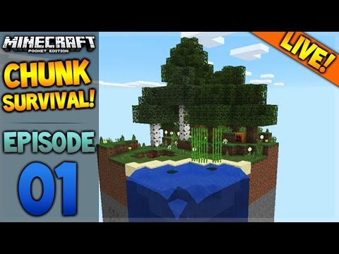 LIVE NOW – Minecraft Pocket Edition – 0.16.0 Chunk Survival Challenge Map (Pocket Edition)