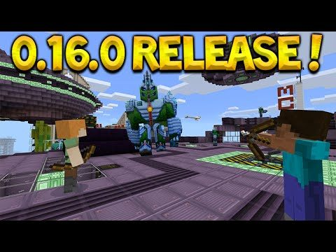 MCPE 0.16.0 RELEASE DATE! Minecraft Pocket Edition 0.16.0 + Addons Release Date (Pocket Edition)