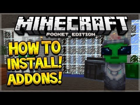 MCPE ADDONS TUTORIAL!! Minecraft Pocket Edition 0.16.0 – How To Install Addons Maps Guide