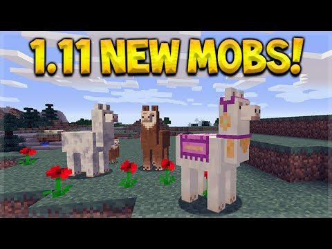 Minecraft 1.11 Exploration Update – All NEW Mobs Gameplay Showcase Minecon 2016 (PC Edition)