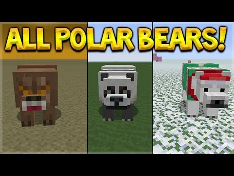 Minecraft Console Edition – NEW Polar Bear Mob + Items In All Texturepacks (Console Edition)