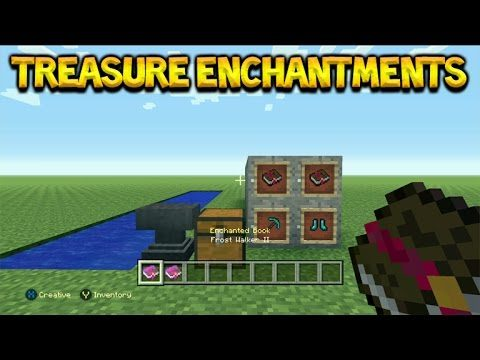 Minecraft Console Edition – Title Update 43 NEW Treasure Enchantments Mending, Frost Walker Tutorial