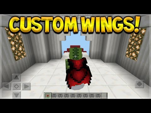 how to use elytra wings in minecraft pe