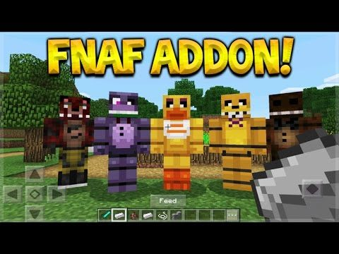 FNAF IN MCPE! Minecraft Pocket Edition – AMAZING! Five Nights At Freddy's Addon (Pocket Edition)