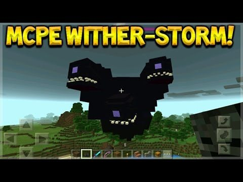 HOW TO SPAWN WITHER STORM IN MCPE – Minecraft Pocket Edition – Wither-Storm Mob!