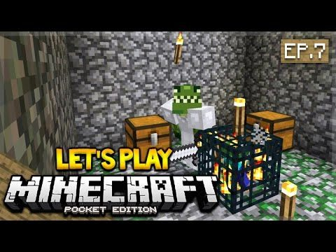 Let's Play Minecraft Pocket Edition 0.17.0 – The Zombie Invasion! Episode 7 (Pocket Edition)