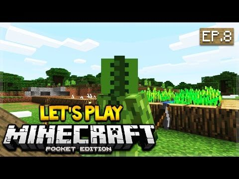 Let's Play Minecraft Pocket Edition 0.17.0 – The Crop Farmer Episode 8 (Pocket Edition)