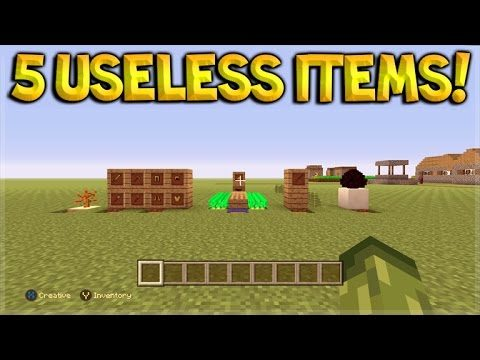 Minecraft Xbox 360 + PS3 – Top 5 Useless Items And Features In Minecraft