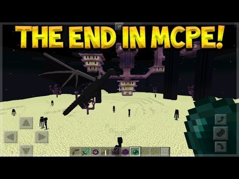 THE END IN MCPE! Minecraft Pocket Edition – NEW Enderdragon + Ender Pearls & More (Pocket Edition)