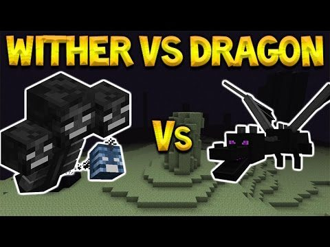 WITHER-BOSS Vs ENDER DRAGON! Minecraft Pocket Edition – Witherboss Vs Enderdragon Battle (MCPE)