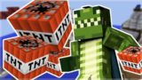 BOMBS LOBBERS!! MINECRAFT POCKET EDITION MINEPLEX MINI-GAME!!