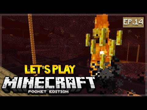 Let's Play Minecraft Pocket Edition 1.0 – The Nether Fortress Exploring Episode 14 (Pocket Edition)