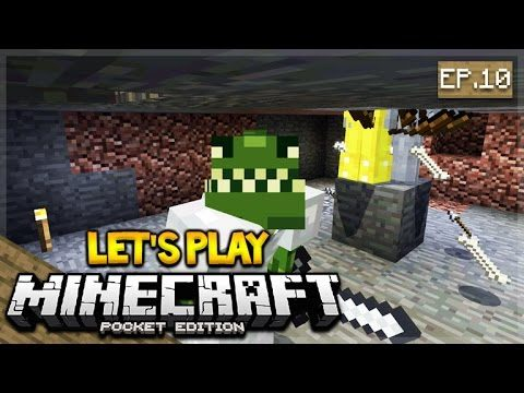 Let's Play Minecraft Pocket Edition 1.0 – The Skeleton XP Farm! Episode 10 (Pocket Edition)