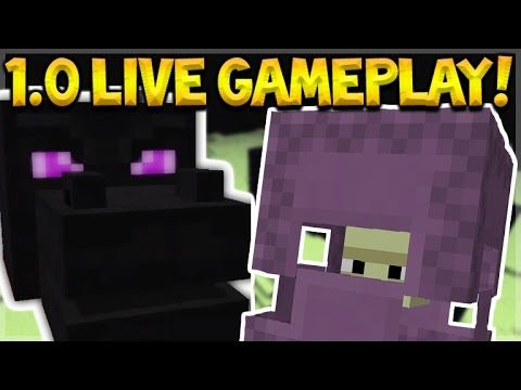 LIVE 1.0 GAMEPLAY!! Minecraft Pocket Edition 1.0 – New Features, End, Wings (Pocket Edition)