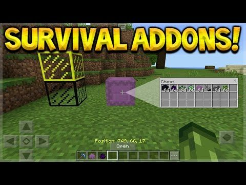 Minecraft Pocket Edition – 1.0 Co-Ordinates, Stained Glass & Shulker Box Addon (Pocket Edition)