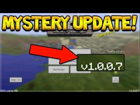 MINECRAFT POCKET EDITION 1.0 – NEW MYSTERY UPDATE!!!