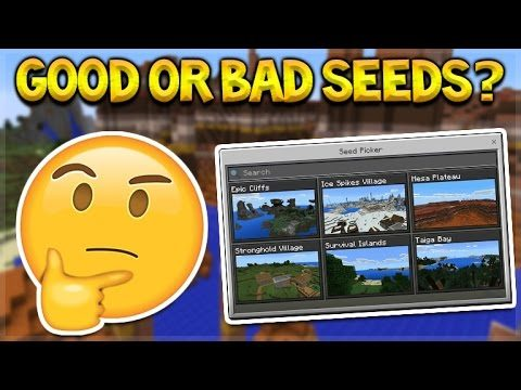 Minecraft Pocket Edition – NEW Seed Picker Good Or Bad Seeds