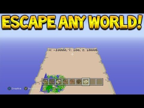 Minecraft Xbox 360/PS3 – How To Escape Any World On Minecraft Console TU46