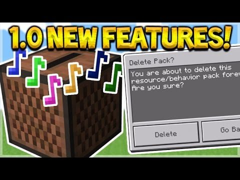 NEW 1.0 FEATURES!! Minecraft Pocket Edition – 1.0 NEW Delete Addons + MCPE Music!