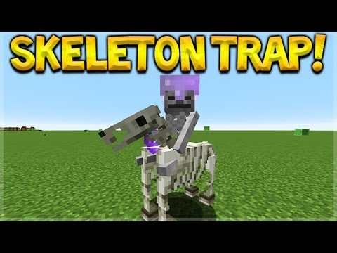 SKELETON HORSE TRAP! Minecraft Console Edition – NEW Skeleton Horsemen Mob