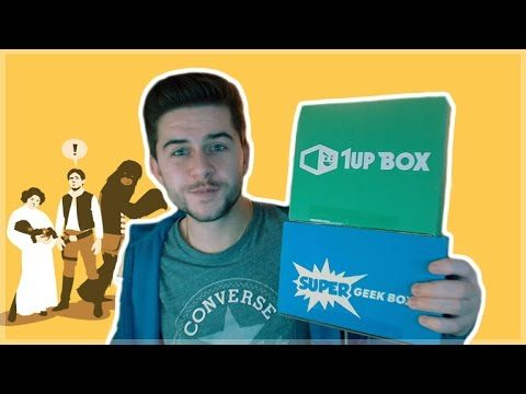 1UP BOX & SUPER GEEK BOX MYSTERY PACKAGE UNBOXING!  STAR WARS GOODIES!