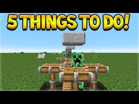 5 DIFFERENT THINGS TO DO IN MINECRAFT WHEN YOU GET BORED!