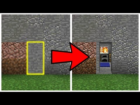 MCPE HIDDEN DOORS! Minecraft Pocket Edition Hidden Doors Resource Pack (Pocket Edition)