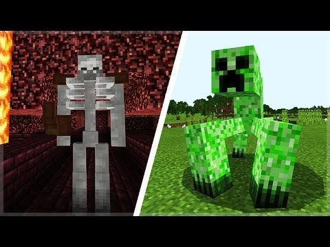 MCPE NEW Mutant Mobs In Minecraft Pocket Edition (Mutant Creatures Addon)