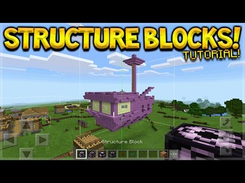 Minecraft Pocket Edition – STRUCTURE BLOCKS Full Working Tutorial (MCPE Structure Blocks)