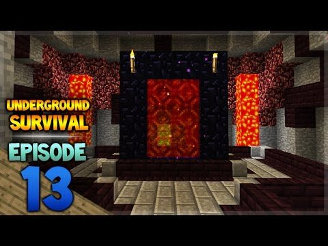 Minecraft Xbox – Underground Survival – The Portal Room Episode 13