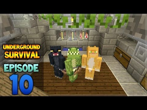 Minecraft Xbox – Underground Survival – Wither-Boss Challenge! Episode 10