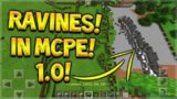 RAVINES IN MCPE! Minecraft Pocket Edition NEW RAVINES MOD SPAWN IN SURVIVAL (Pocket Edition)