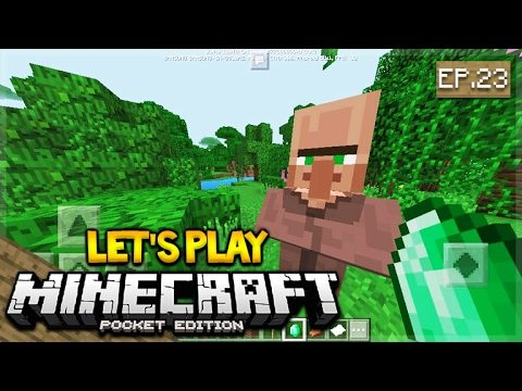 LIVE NOW – Let's Play Minecraft Pocket Edition 1.0.4 – Villager Trading Episode 23 (Pocket Edition)