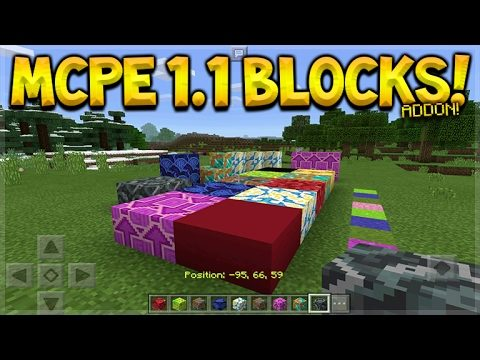 MCPE 1.1 PREVIEW! Minecraft Pocket Edition – NEW 1.1 Concrete, Terracotta ADDON (Pocket Edition)