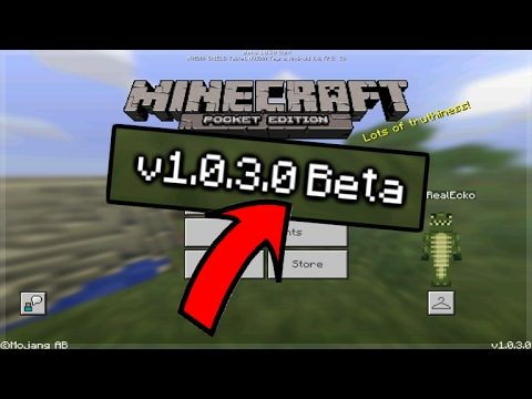 MCPE BETA OUT NOW! Minecraft Pocket Edition BETA 1.0.3 Out NOW! (Pocket Edition 1.0.3.0)
