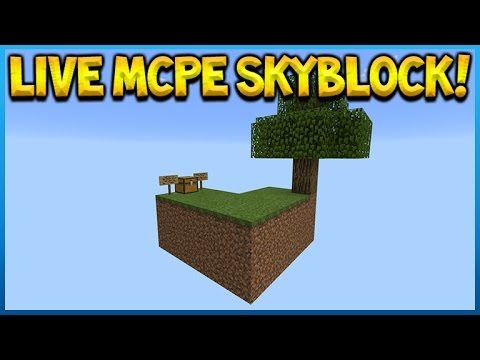 Minecraft Pocket Edition – Modded Skyblock Survival – Up In The Air Episode 1